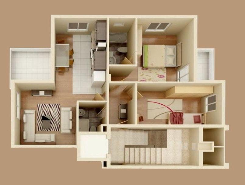 3D модели квартиры.